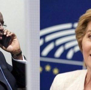 Entretien avec Mme Ursula von der Leyen : Macky Sall remercie l'UE pour son soutien au plan de résilience du Sénégal